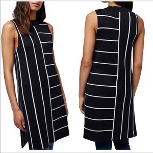 TOPSHOP || Blue and white stripe tunic top size 2